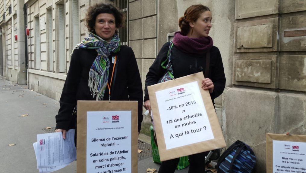 Les salarié.e.s de l'Atelier alertent les acteurs de l'ESS et la Région Ile de France !