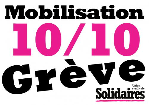 Loi Travail XXL, contrats aidés, services publics, même combat !  Tou.te.s en grève le 10 Octobre