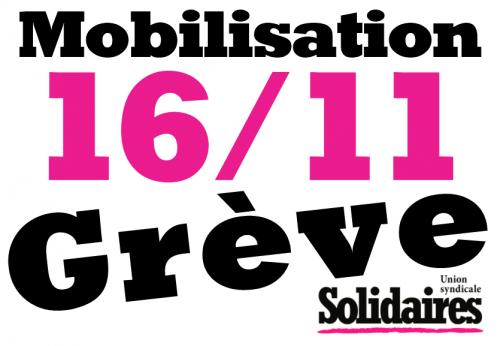 Précarité partout, justice nulle part !  Tou.te.s en grève le 16 Novembre contre la Loi Travail XXL