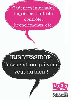 Nous dénonçons les conditions de travail dans l'association Iris Messidor et le licenciement inacceptable d'Alexandra Poindron