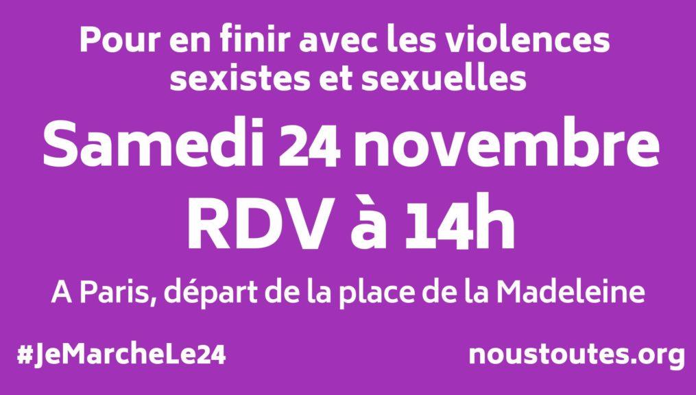 Le 24 novembre, nous marcherons pour en finir avec les violences sexistes et sexuelles