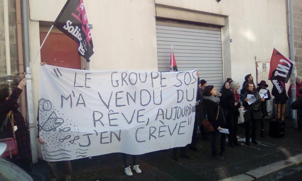 Mobilisation des salarié.é.s de l'association MANA contre la «dictathune» du groupe SOS