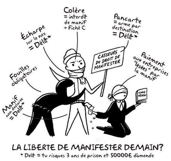 Contre la répression, pour la liberté de manifester – le 29/01 à 18h