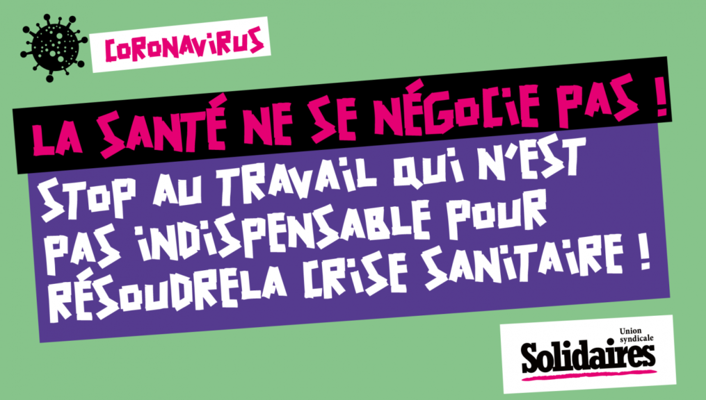 Coronavirus, les travailleur·ses et les publics des associations aussi en première ligne